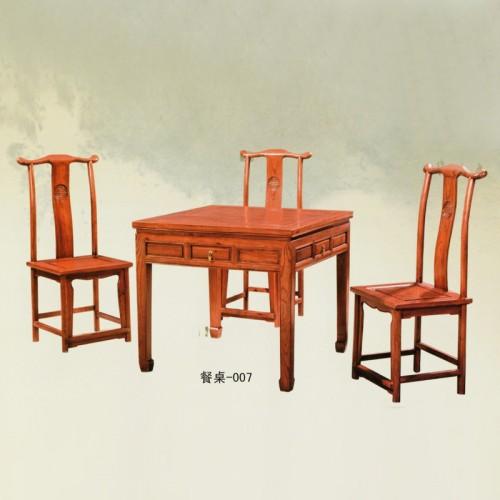 中式仿古榆木餐桌椅餐台007