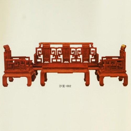 老榆木沙发组合新中式实木沙发002
