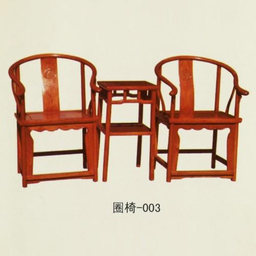 榆木家具太师椅实木圈椅-003