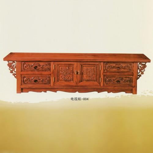 新中式榆木如意电视柜 -004