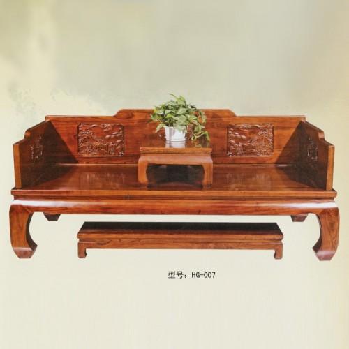 中式客厅家具榆木罗汉床HG-007