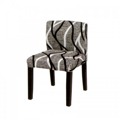 时尚条纹布艺实木餐椅i-6