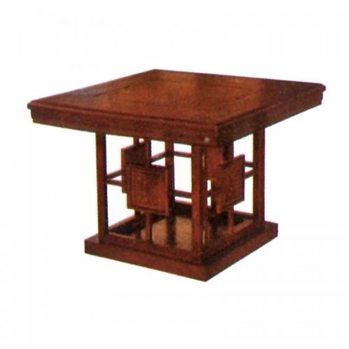 实木茶桌正方形茶几实木功夫茶台Q-002