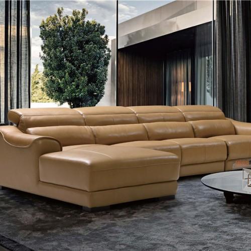 客厅真皮转角沙发  时尚别墅真皮转角沙发头等舱座椅躺椅_B601