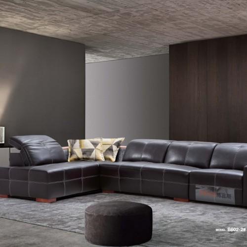 时尚咖色真皮转角沙发头等舱座椅  高档咖色软皮转角沙发头等舱座椅_B602-1