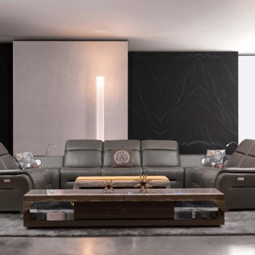 客厅真皮多功能沙发头等舱躺椅  时尚软皮多功能沙发躺椅_B637