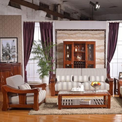 实木布艺沙发1+2+3  现代时尚实木沙发布艺沙发1+2+3_602