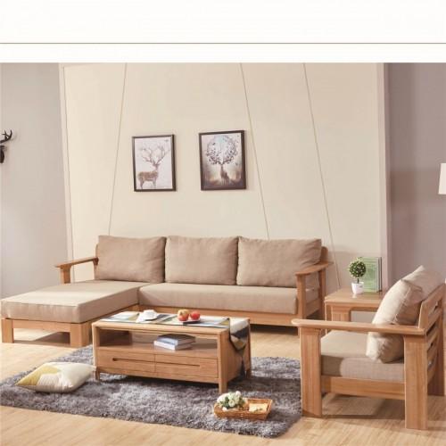 北欧实木转角沙发布艺沙发  松木布艺转角沙发单人沙发_14
