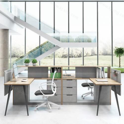 科悦四人职员桌板式办公桌19-GT2828