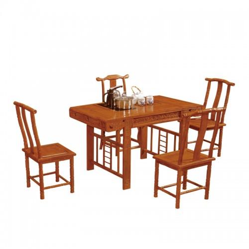 仿古实木茶台中式茶道桌E-004