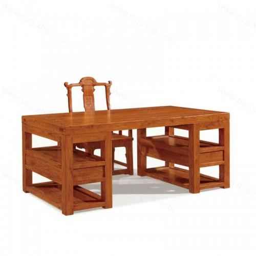 简约仿古中式老榆木书桌书椅D-021