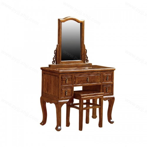 中式仿古雕花带镜梳妆台D-008