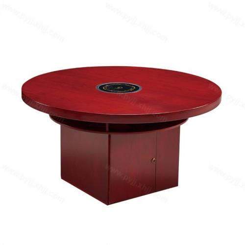 实木电磁炉火锅桌圆餐桌B-016