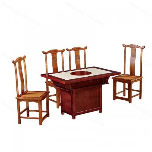 火锅桌椅组合电磁炉一体B-012