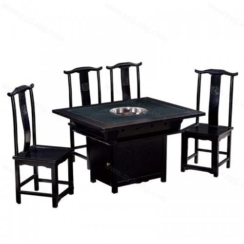 方形火锅桌电磁炉桌椅组合B-008