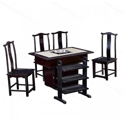 现代火锅桌电磁炉桌椅组合B-005