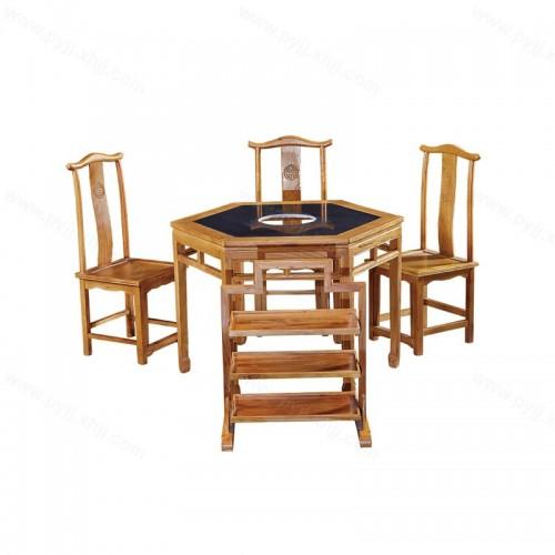 实木火锅桌椅组合B-003