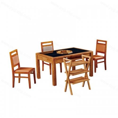 实木电磁炉火锅桌椅组合B-002