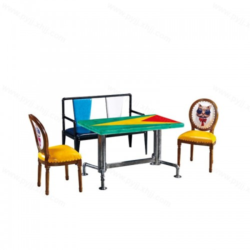 咖啡厅创意主题餐厅桌椅组合H-010