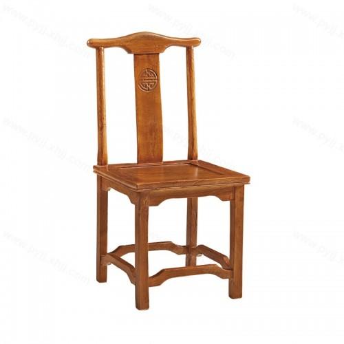 酒店餐桌椅餐厅宴会实木官帽椅C-119