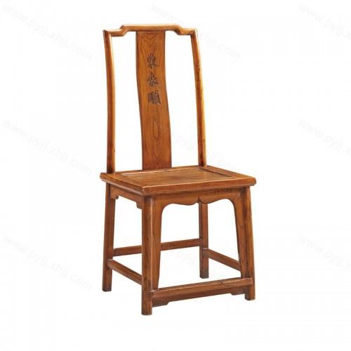 中式餐椅坐垫实木酒店餐椅C-114