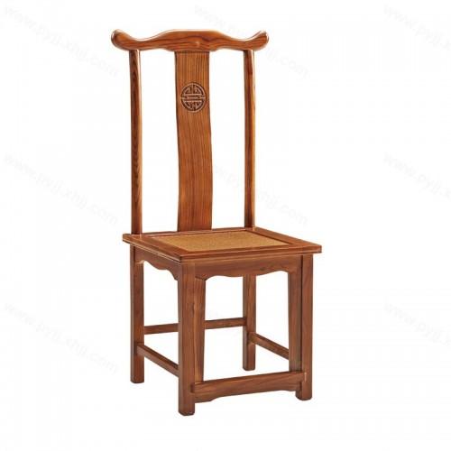 中式明清仿古实木饭店酒店餐椅C-112