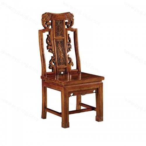 实木餐椅明清仿古酒店雕花靠背椅C-110