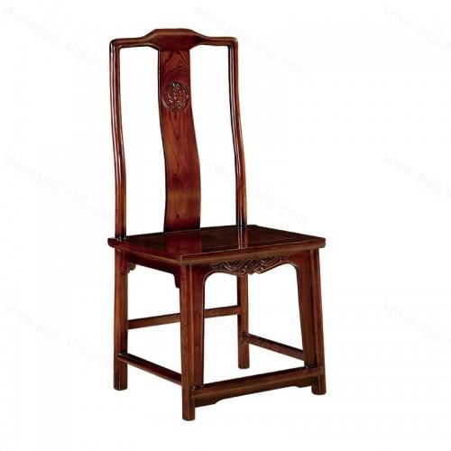 实木新中式仿古官帽椅酒店靠背椅C-109