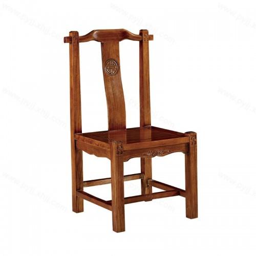 实木椅子现代新中式仿古靠背椅餐椅C-108