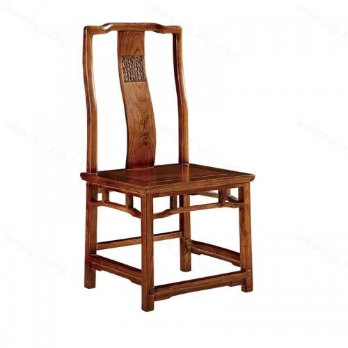 仿古中式实木靠背餐椅官帽椅C-107