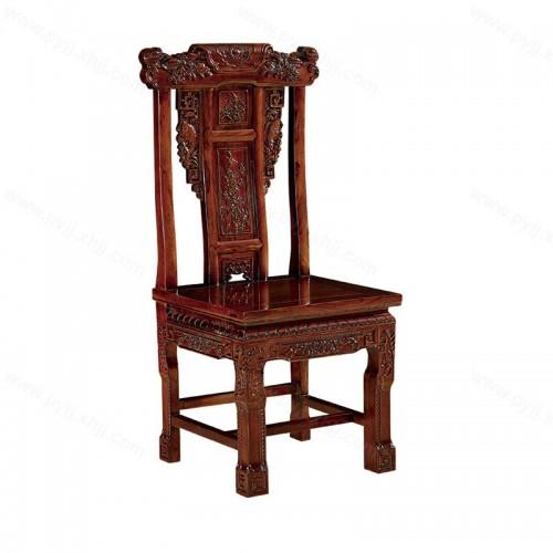 实木餐椅现代简约中式雕花靠背椅C-106