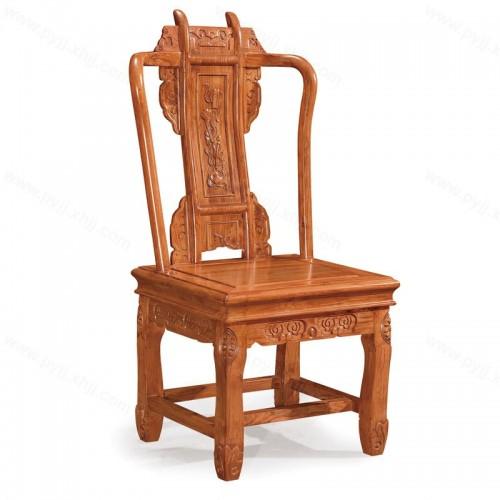 中式实木椅酒店仿古靠背餐椅C-102