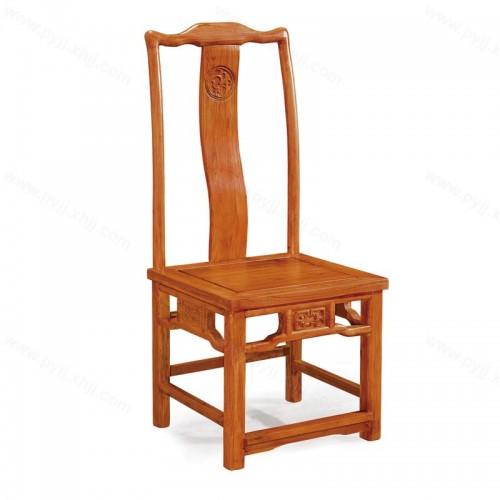 中式明清仿古实木酒店餐椅C-100