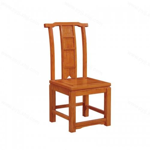 简约中式明清仿古实木酒店餐椅C-099
