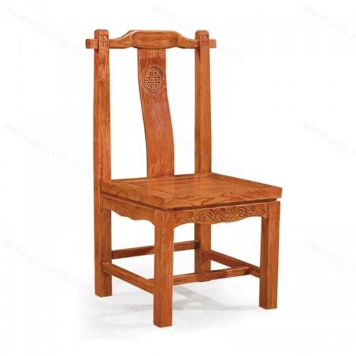 现代中式明清仿古实木酒店餐椅C-098