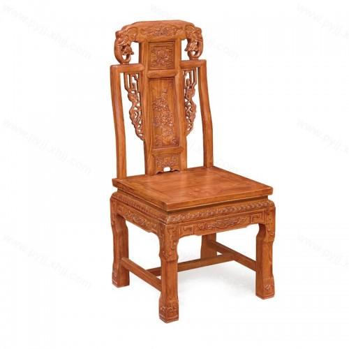 实木餐椅中式仿古雕花靠背餐椅C-097