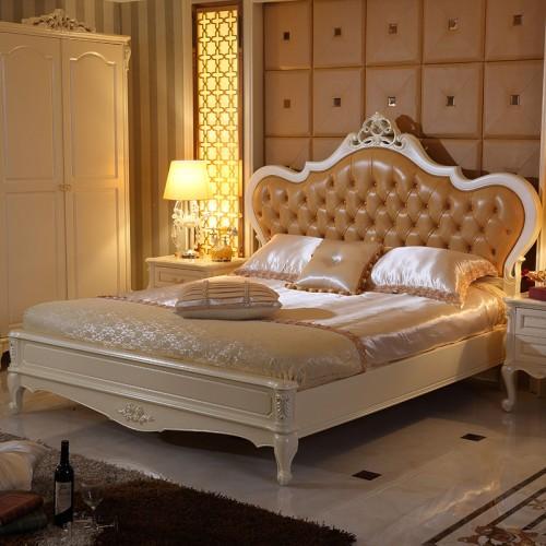 欧式卧室套房双人床+