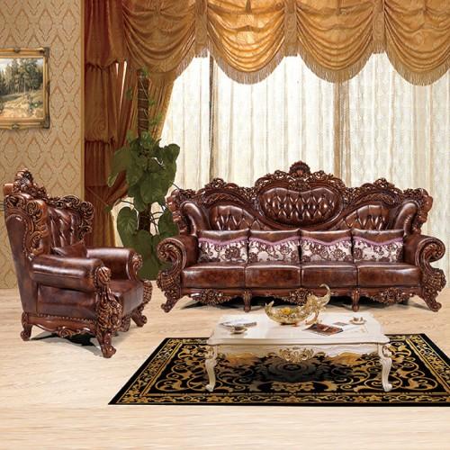 欧式全实木雕花沙发真