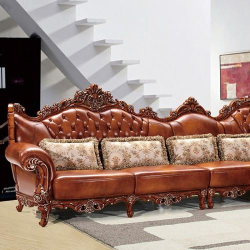 实木贵妃位沙发欧式深