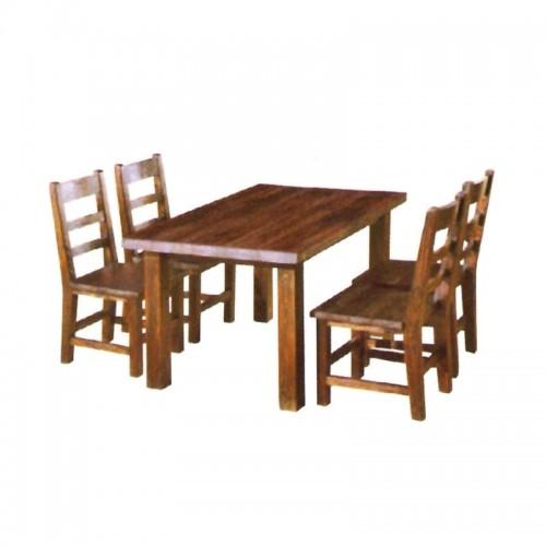 防腐碳化木餐桌椅 BLS-4
