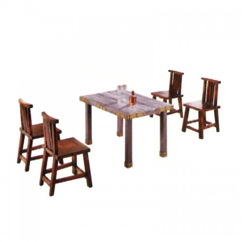 碳化实木快餐桌椅 BLS-5