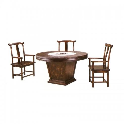 化实木餐厅饭店桌椅组合 BLS-6
