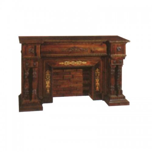 取暖器装饰柜实木雕花壁炉BLS-29