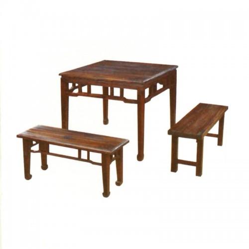 防腐实木餐桌椅户外八仙桌BLS-9