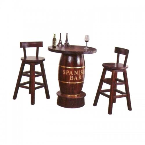 实木防腐木酒桶桌BLS-3