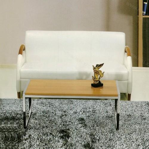 创意办公沙发实木扶手