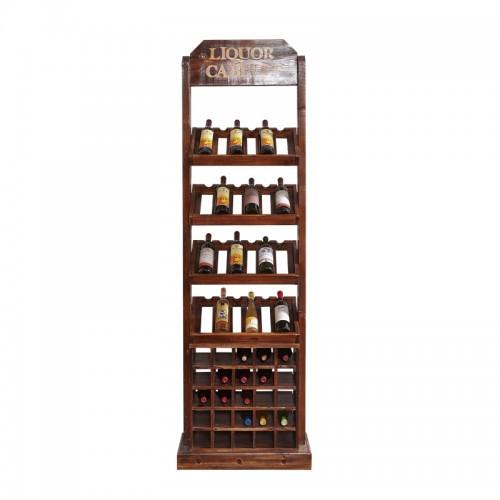 红酒展示架葡萄酒架红酒立柜JG-7酒窖