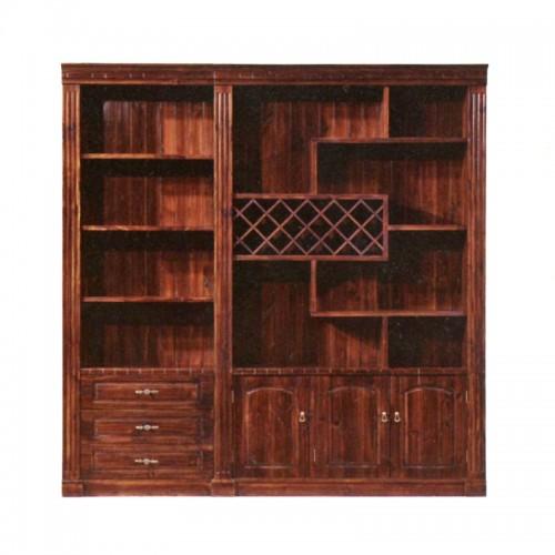 防腐木酒柜碳化木新款酒柜JG-10红酒架书柜