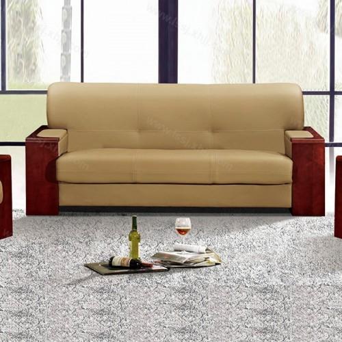 简约现代真皮沙发商务