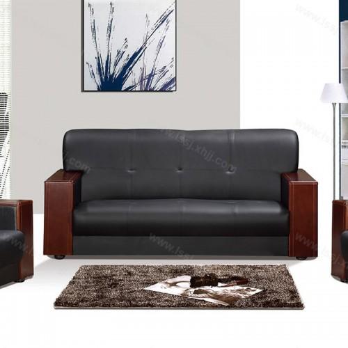 现代简约真皮沙发商务